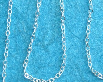 Cable Chain Necklace in Sterling Silver