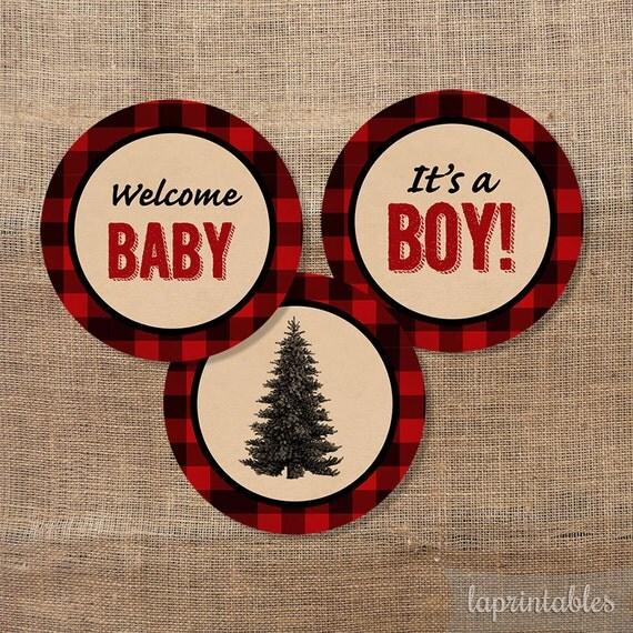 Lumberjack Cupcake Toppers Baby Boy Shower It S A Boy