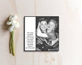 Vintage Inspired Magnet - The most beautiful discovery true friends can make is that they can grow separately without growing apart - Women