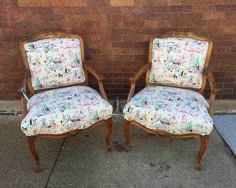 Parisian Upholstered Armchairs - Sold separately
