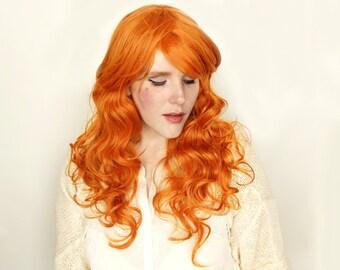 SALE Ginger Orange wig | Long Red wig | Curly Ginger Red Auburn wig | Cosplay wig, Halloween wig & everyday glam | Ginger Angel