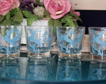 Set of Blue Leaping Gazelle Glasses
