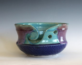 Yarn Bowl, knitting bowl, handmade ceramic yarn bowl, gift ideas, ceramics, READY TO SHIP