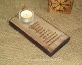 Nine Virtues T-light Insence Stick Holder, Viking Candle holder, Altar Piece,  Asatru, Heathen, Pagan, viking decor,  tealight, OOAK.