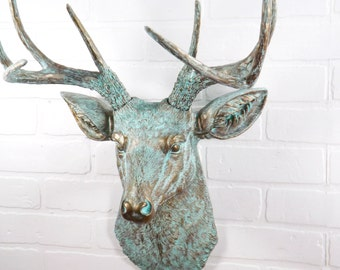 Deer Head ,Deer Decor,Faux Taxidermy,Deer Gift,Gift For Him,Living Room Decor,Bedroom Wall Decor,Rustic,Fireplace Decor