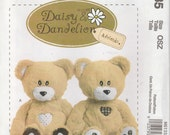 "Plush Bear Pattern Bubbles Squeak Stuffed Bear 18"" Uncut 2010 McCalls 6135 Daisy & Dandelion"