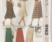 Skirt Pattern Flared Gored Box Pleat Several Variations Misses Size 16 Waist 30 Uncut McCalls 9162