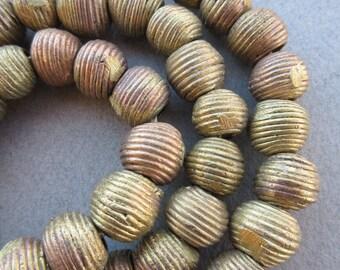 African Wound Brass Beads