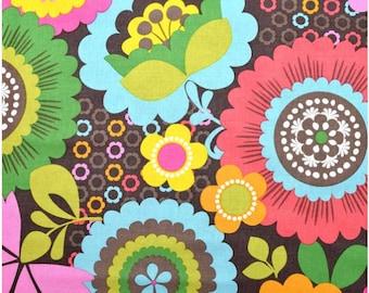 Baby Girl Blanket, Girl Minky Blanket, Girl Crib blanket, Modern Colorful Flower Blanket, Baby Girl Shower Gift, Personalized Baby Blanket