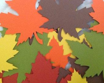 50 Large 4 Inch Fall Leaves die cuts