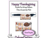 Bead Pattern Peyote(Pen Wrap/Cover)-Happy Thanksgiving