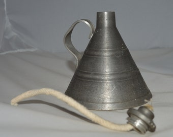 Vintage Rune Tennesmed Vintage Pewter Oil Lamp Unused Swedish Made Clean Lines Unique Home Décor Accent Piece