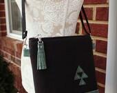 La Natalia Bag - Cross body bag - Classic bag - Black canvas bag - Cork bag- Cork Purse - Travel bag -