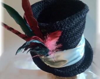 The Best Top Hat Crochet Pattern Steampunk Bohemian Goth Edwardian Victorian Gypsy Festival Hat