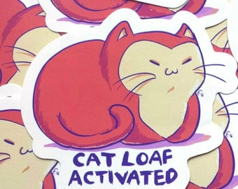 Cat Loaf Activated Vinyl Sticker