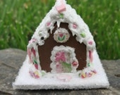 Dollhouse Miniature Sugar Cookie Gingerbread House 12th Scale