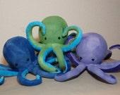 Custom Made to Order Baby Octopus - Fleece Ocean Sea Creature Stuffed Plush Animal