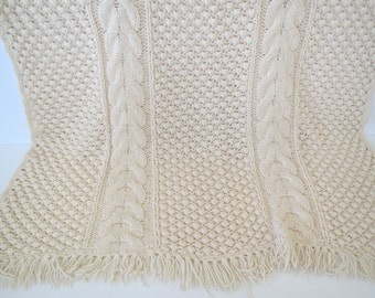 Vintage crocheted afghan/ crocheted throw/ handmade