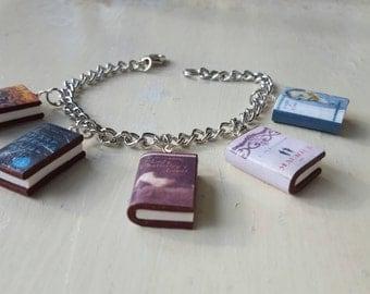 Choose Your 5 (Five) Book Charm Bracelet