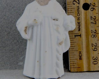 Vintage Antique Excavated  German Porcelain Religious Figure Doll Body For Doll Making Altered Art