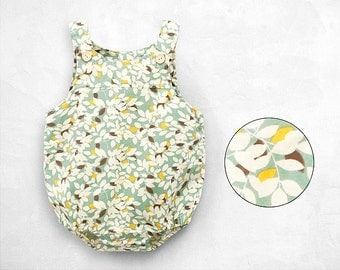 Mint Green Yellow Girl Onsies Jumpsuit Playsuit One-piece Bodysuit Overalls Toddler Baby Cotton Shirt Dress Infant Cute Preppy Woodland