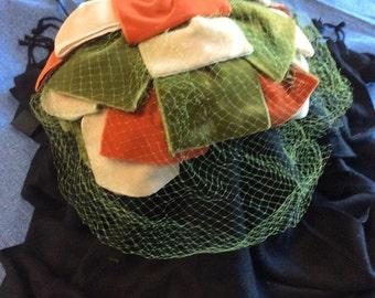 Vintage Volk Velvet Bow Hat