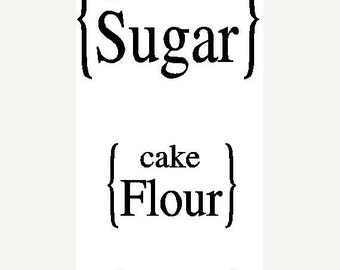 ON SALE Vinyl Kitchen container labels...sugar flour..