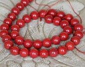 10 mm Coral round Beads,Semi Precious Beads ,ROUND Red Coral Beads Full One Strand 15inch