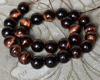 14 mm of Natural red tiger eye's stone round Gemstone Loose Beads,gemstone loose bead,semi-precious stone bead