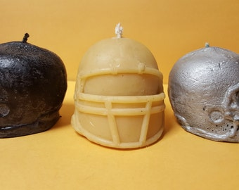 Football helmet candles(your choice of team colors)