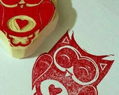 Owl Heart Stamp
