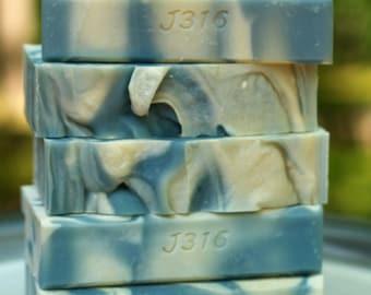 Clean Cotton - Homemade Bar Soap - Citrus - Powder Scented Handmade Soap Cold Process - Scripture - John 3:16 - Christian