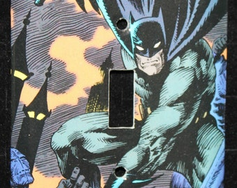 Batman DC Dark Knight Comic Book Switch Plate Wallplate Light Cover