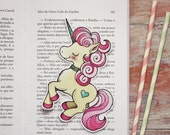Merry - Yellow candy unicorn - bookmark - made to order