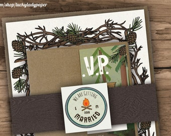 Endless Summer Camp Wedding Invitation Set by Luckyladypaper - CUSTOM CARD ORDER