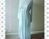 VALENTINE SALE 1970s Baby Blue Vintage Night Gown