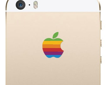 Apple iPhone SE and iPhone 5S Retro Logo Decal