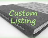 Custom Listing for Katie - 9x11 Personalized Long Stitch Album