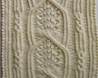 Knit Scarf Pattern:  Yatomi Turtleneck Scarf Knitting Pattern