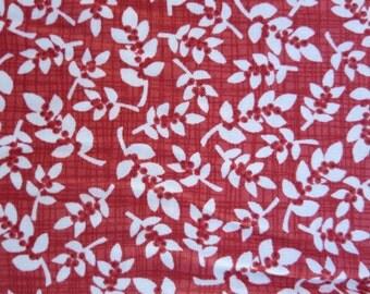 Moda - Winterberry Berry 13144 13 - Seasonal Leaves Berries Red