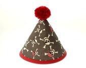 30% OFF SALE: Pirate Theme Fabric Birthday Hat