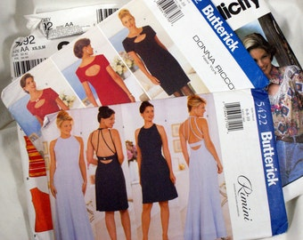 Lot of nine ladies patterns in the smaller sizes mostly dress patterns Butterick McCall's and simplicity