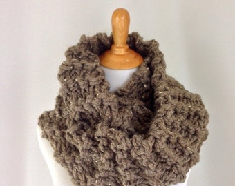 PRE-FALL SALE Outlander Scarf Claire's Cowl Knitted Circle Scarf Wrap Shawl Snood // The Claire