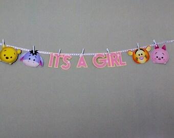 Tsum Tsum WINNIE THE POOH & Friends Baby Shower Party Banner