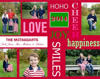 CH 8 - Photo Christmas Card (25 per set)