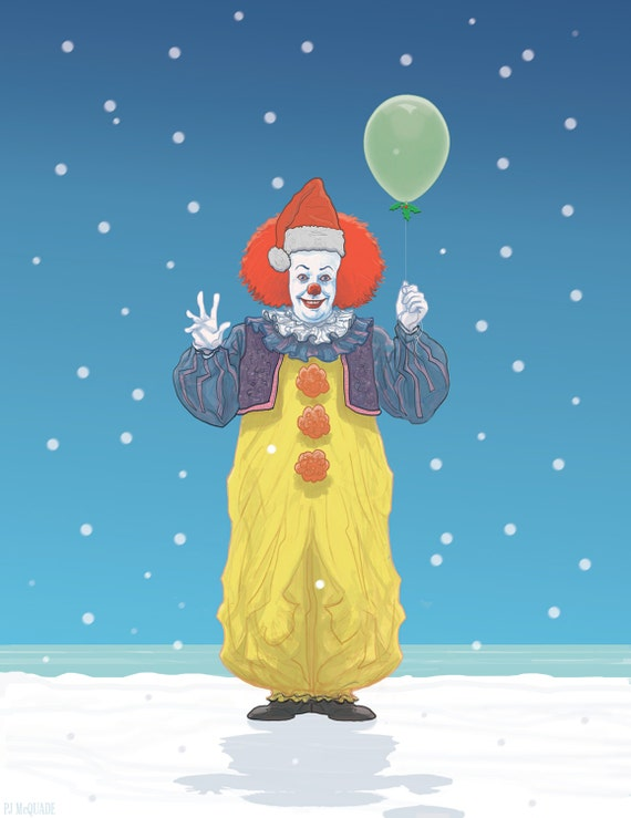 Pennywise IT Christmas Card