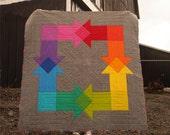 Rainbow Mash-Up Quilt PATTERN (pdf)