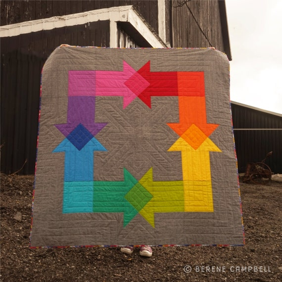 Rainbow Mash-Up Quilt PATTERN (pdf)