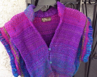 Beautiful Handmade Fiberwork Sweater Vest