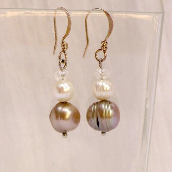 Dangle earrings silver pearl earrings freshwater pearl earrings Dangle pearl earrings bridal Pearl Earrings pearl bridal jewelry wedding